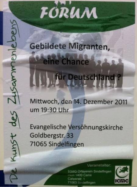Poster for Muslim meeting